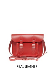 "Cambridge Satchel Company Red Leather 11"" Satchel"