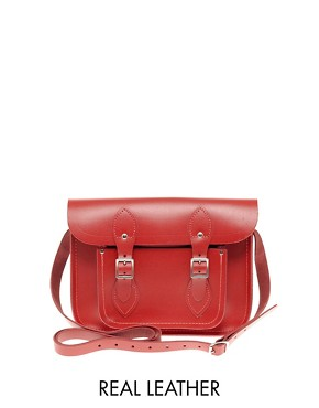 Image 1 ofCambridge Satchel Company Red Leather 11&quot; Satchel