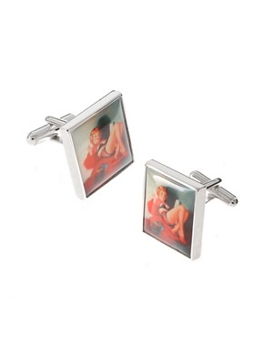 Image 1 ofSimon Carter Pin Up Girl Cufflink