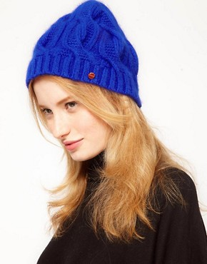 Image 1 ofTed Baker Purl Cable Knit Beanie Hat