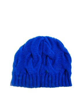 Image 4 ofTed Baker Purl Cable Knit Beanie Hat