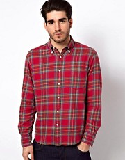 Gant Rugger Shirt with Tartan Check