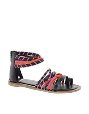Bronx Multi Strap Braided Leather Sandals
