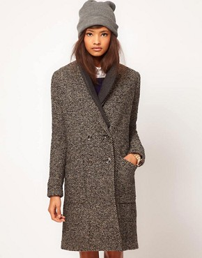 Image 1 ofASOS Limited Edition Rib Insert Coat