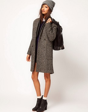 Image 4 ofASOS Limited Edition Rib Insert Coat