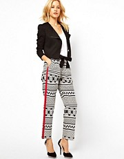 ASOS Trousers In Monochrome Print