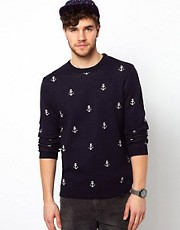 ASOS  Pullover mit Ankermuster
