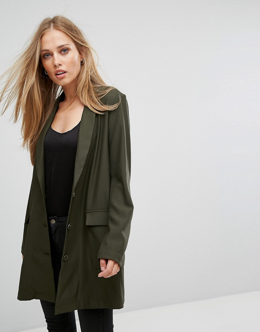 Selected Longline Blazer - Green