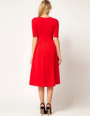 Image 2 ofASOS Midi Dress With Ballet Wrap