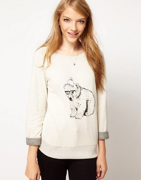 Image 1 ofBrat &amp; Suzie Polar Bear Sweatshirt