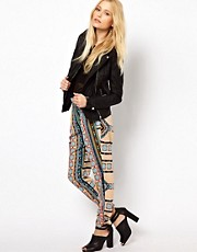 River Island Drape Pant In Moroccan Print