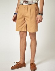 ASOS Chino Shorts With Pleat
