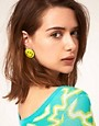 Image 2 ofASOS Happy Face Stud Earrings