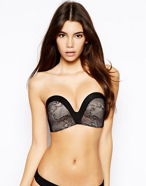Image 1 ofWonderbra A-G The New Ultimate Strapless Lace Bra