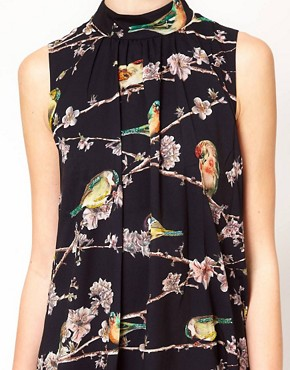 Image 3 ofTed Baker Bird Branch Print Dress