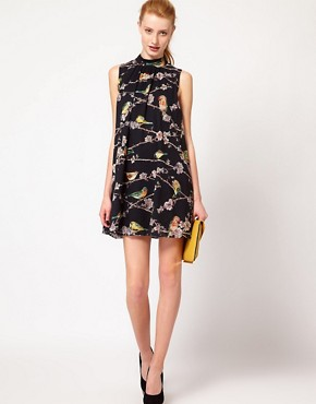 Image 4 ofTed Baker Bird Branch Print Dress