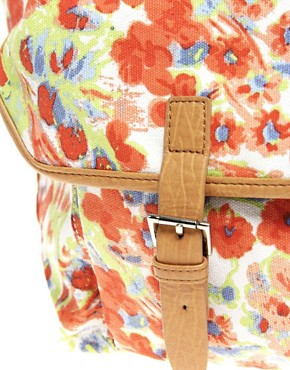 Image 2 ofASOS Floral Print Pocket Shopper Bag