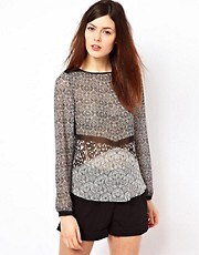 Warehouse Neo Tribal Top