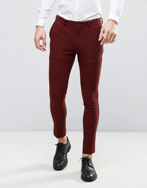 ASOS Super Skinny Suit Trousers in Neppy Jersey