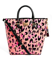 Paul&#39;s Boutique Natasha Neon Leopard Shopper
