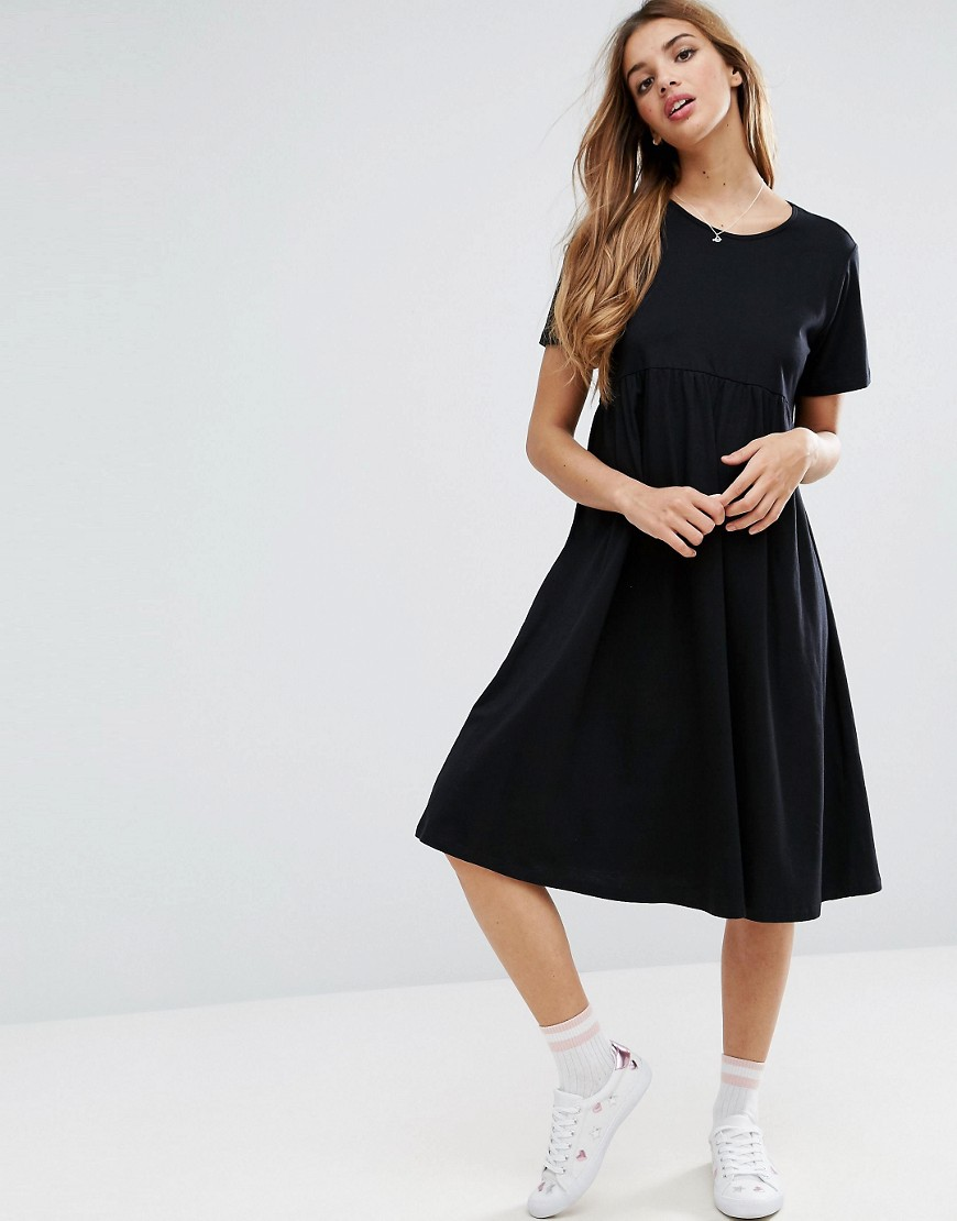 ASOS Ultimate Midi Smock Dress - Black
