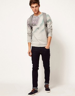 Image 4 ofASOS Sweatshirt With Sublimated Flag