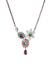 Krystal Swarovski Statement Floral Necklace