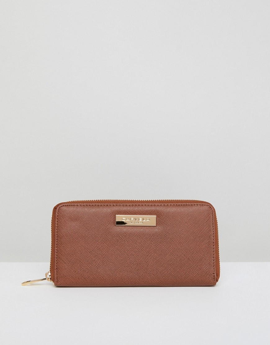 Carvela Zip Purse - Stone