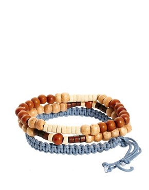 Image 2 ofASOS Blue Rope Bead and Band