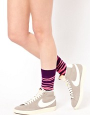 Calcetines con estampado de cebra de Happy Socks