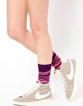 Image 1 ofHappy Socks Zebra Print Socks