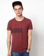 ASOS T-Shirt With Aztec Chest Print