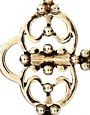 Image 2 ofHouse of Harlow 1960 14ct Gold plated Large Key Cocktail Ring