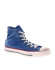 Converse All Star Washed Blue High Top Trainers