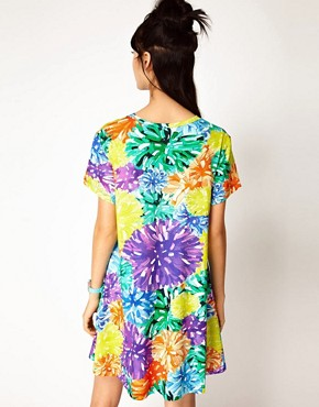 Image 2 ofHouse of Holland Tee Dress in PomPom Floral