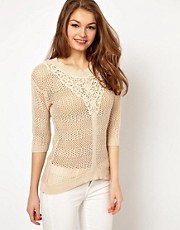 A Wear Crochet Front Jumper
