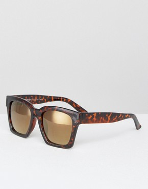 AJ Morgan Square Flat Top Sunglasses in Tortoise