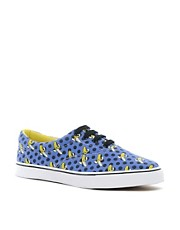 ASOS Plimsolls With Banana Print