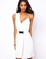 ASOS Cami Strap Wrap Dress With Bar Belt
