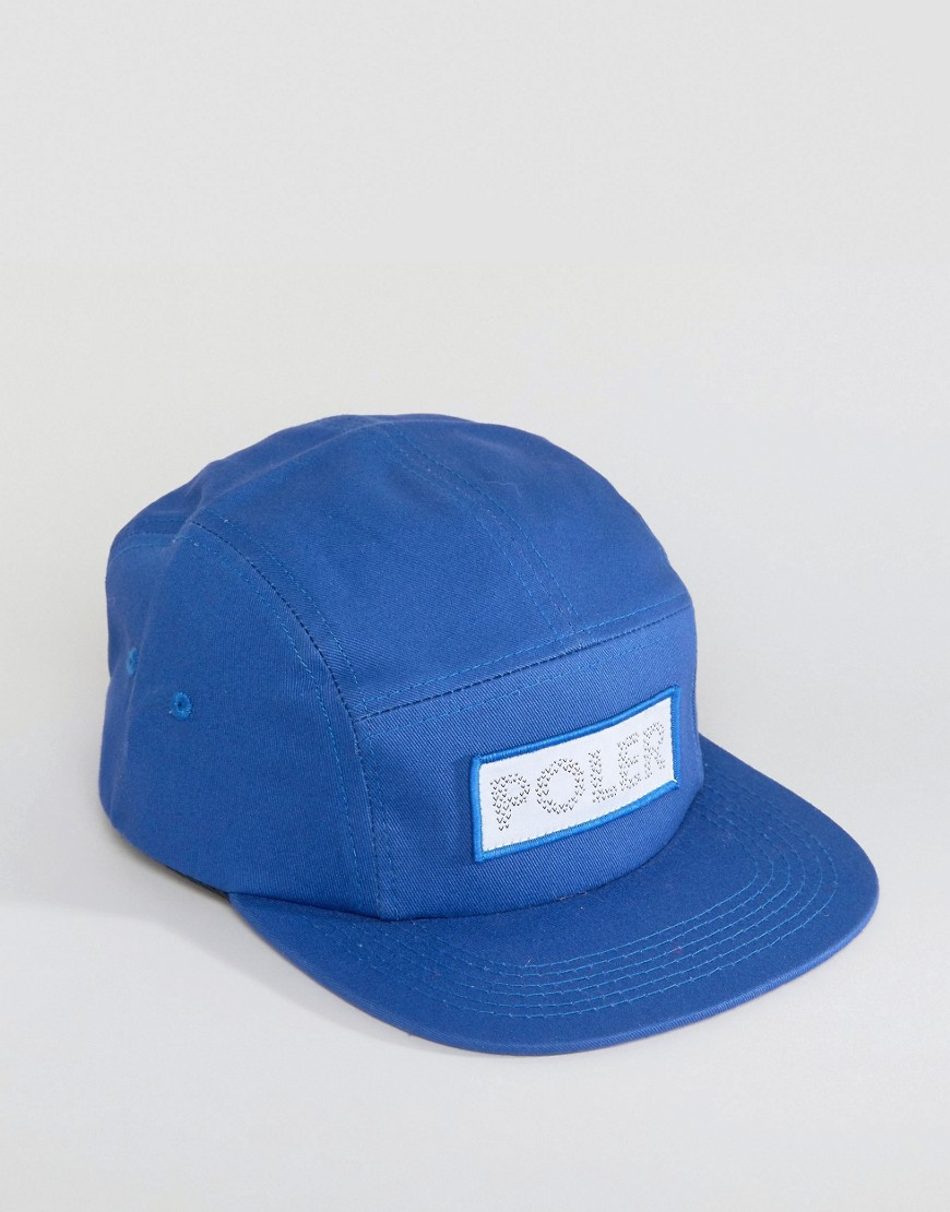 poler-5-panel-cap-tracker-blue