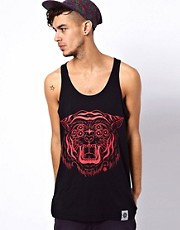 Abandon Ship Vest with Tiger Print