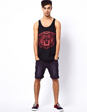 Image 4 ofAbandon Ship Vest with Tiger Print