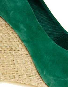 Image 2 ofASOS PAVE THE WAY Suede &amp; Raffia Wedge Shoe