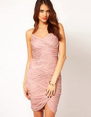 Halston Heritage Strappy Ruched Dress