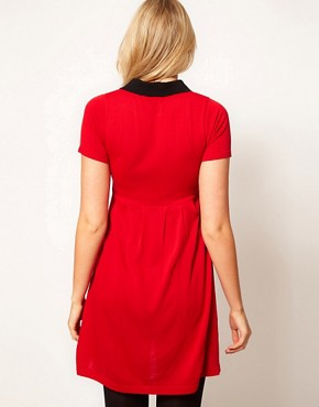 Image 2 of ASOS Maternity Knitted Dress With Peter Pan Collar