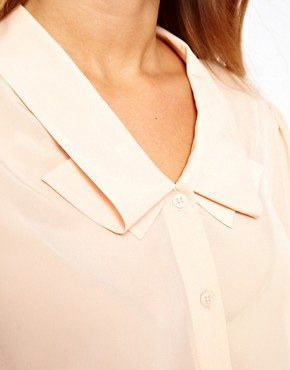 Image 3 ofASOS CURVE Blouse With Double Pleat Collar