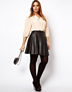 Image 4 ofASOS CURVE Blouse With Double Pleat Collar