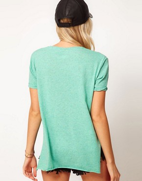 Image 2 ofASOS T-Shirt with Split Sides in Texture