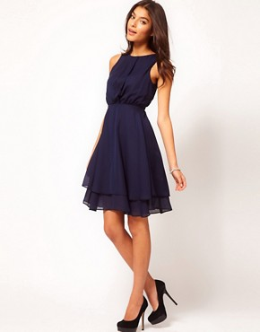 Image 4 ofASOS Skater Dress With Double Skirt