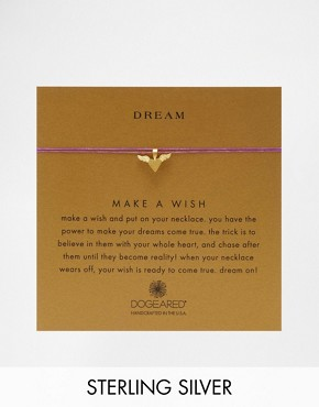 Dogeared Follow Your Dreams Gold Plated Winged HeartNecklace